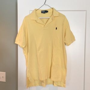 Light Yellow Polo Short-Sleeve Shirt